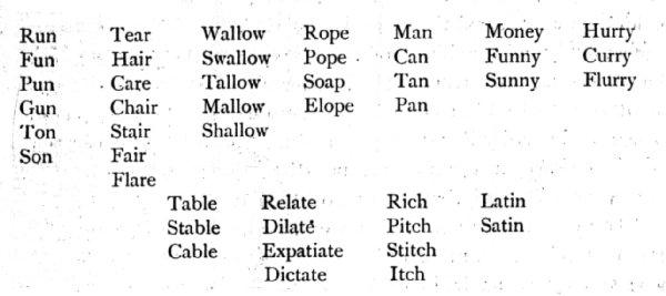 Printables 20 Rhyming Words words for five scalien rhyming scalien